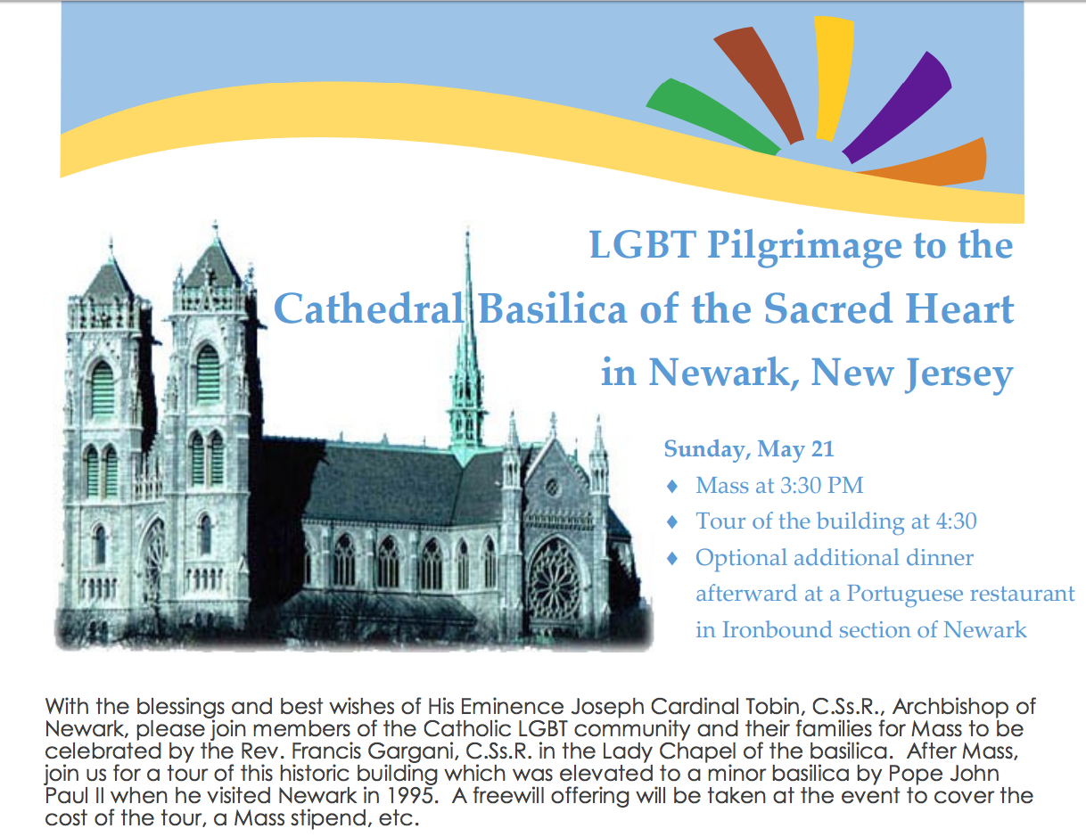 NJ Cardinal Gives Blessing to LGBT Pilgrimage to Cathedral